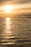 Golden Sunset at Sea Stock Image