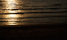 Golden sunset in sea Royalty Free Stock Images