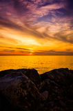 Golden Sunset Seascape Stock Photos