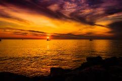 Golden Sunset Seascape Stock Image
