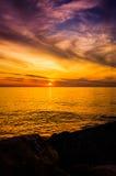 Golden Sunset Seascape Royalty Free Stock Photos