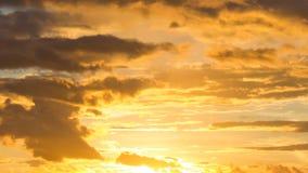 Golden Sunset Sky Stock Photos