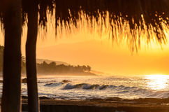 Golden sunset/sunrise shoreline 3 Royalty Free Stock Images