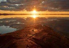 Golden Sunset Stock Photo