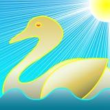 Golden Swan Royalty Free Stock Image