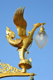 Golden Swan lamp on electricity Stock Photos