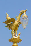Golden swan lamp Royalty Free Stock Images