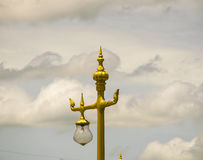 Golden swan lighting lamp in Thailand. Royalty Free Stock Images