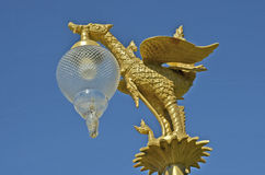 Golden swan sculpture Royalty Free Stock Images