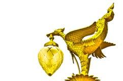 Golden swan sculpture Stock Photography