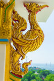 Golden swan statue  Thai art Stock Photography