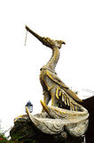 Golden swan statue. Royalty Free Stock Photography