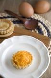 Golden sweet mini tart Royalty Free Stock Photos