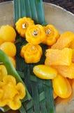 Golden Sweet Thai Dessert stock images
