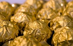Golden sweets Royalty Free Stock Photos
