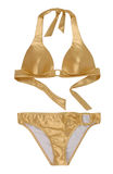 Golden swimsuit Royalty Free Stock Image