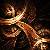 Golden swirl. An abstract illustration of a  golden swirl Royalty Free Stock Photo