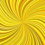 Golden swirl background from curved stripes. Golden abstract swirl background from curved spiral ray stripes - vector graphic Stock Illustration