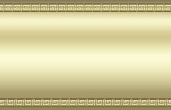 Golden swirl border. Matte golden background with a raised square swirl border that resembles a Greek key pattern vector illustration