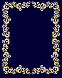 Golden swirl frame. A border made up of metallic gold swirls stock illustration