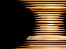 Golden swirl object. On the black background. Illustration made on computer Stock Image