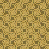 Golden swirl pattern Stock Photo