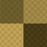 Golden swirl pattern multi Royalty Free Stock Image