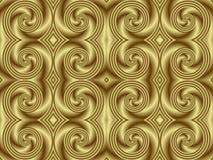 Golden Swirl Seamless Tile. Illustration of seamless tile in smooth monochromatic gold royalty free illustration