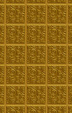 Golden swirled tile pattern Royalty Free Stock Photos
