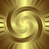 Golden swirling background Stock Photo