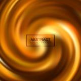 Golden swirling caramel whirlpool Stock Photography