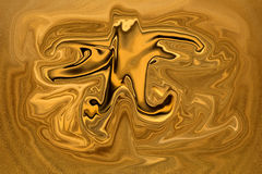 Golden swirls Royalty Free Stock Image