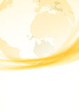 Golden swoosh border global background Royalty Free Stock Photos
