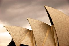 Golden sydney opera house Stock Photography