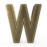 Golden symbol of the alphabet. 3D. Golden symbol of the alphabet. Letter. 3D rendering stock illustration