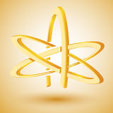 Golden symbol of atheism. Vector Stock Photo
