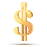 Golden symbol of dollar Royalty Free Stock Photography