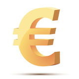 Golden symbol of euro Royalty Free Stock Image