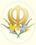 Golden symbol Stock Image