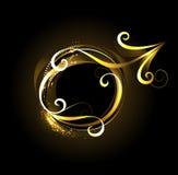Golden symbol of Mars Stock Images