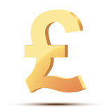 Golden symbol of pound Royalty Free Stock Image