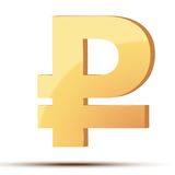 Golden symbol of ruble Royalty Free Stock Images