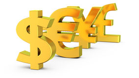 World currencies Stock Image