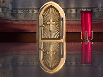Golden tabernacle stock photography