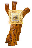 Golden Tabernacle on wooden tree Royalty Free Stock Image
