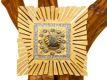 Golden Tabernacle on wooden tree Stock Photography