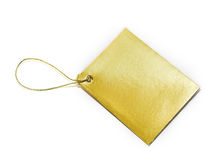 Golden tag Stock Images