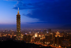 Golden Taipei 101 Royalty Free Stock Photos