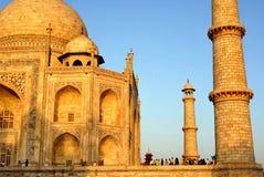 Golden Taj Mahal. Mausoleum of Taj Mahal in late afternoon light Stock Photo