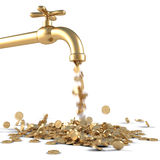 Golden tap Stock Photography